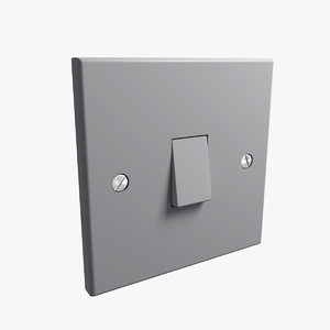3d uk single light switch