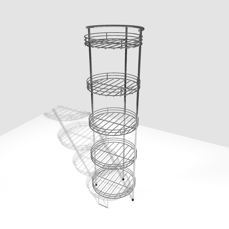 3d model chrome food stand