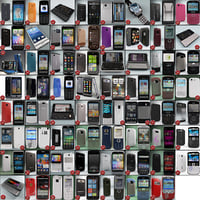 cellphones 77 mobile phone 3d 3ds