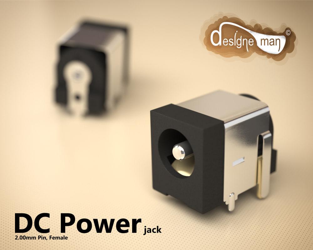 3ds max dc power jack