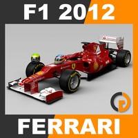 formula 1 2012 ferrari 3d model