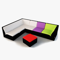 3d emotion ora-ito furniture sofa model