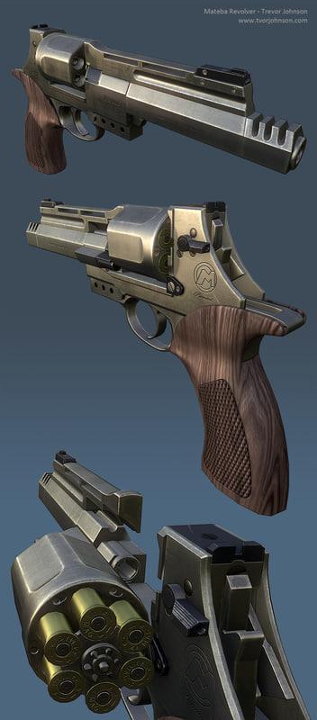 mateba revolver 3d ma