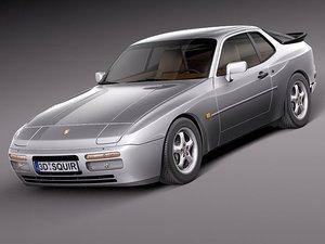 3d model porsche 944 1982 1991