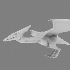 3d model pterodactyl
