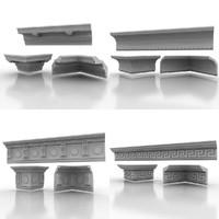3d model cornice molding