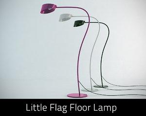 3d 3ds little flag floor lamp