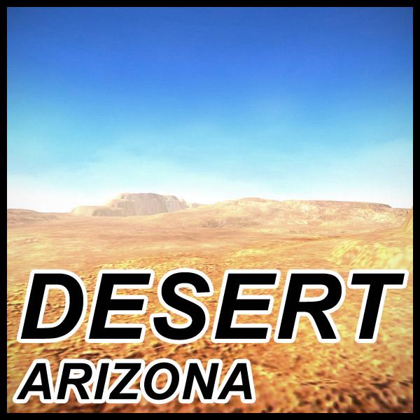 3d model arizona terrain landscape