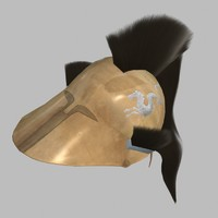 3d greek helmet model