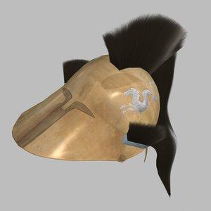 3d greek helmet model