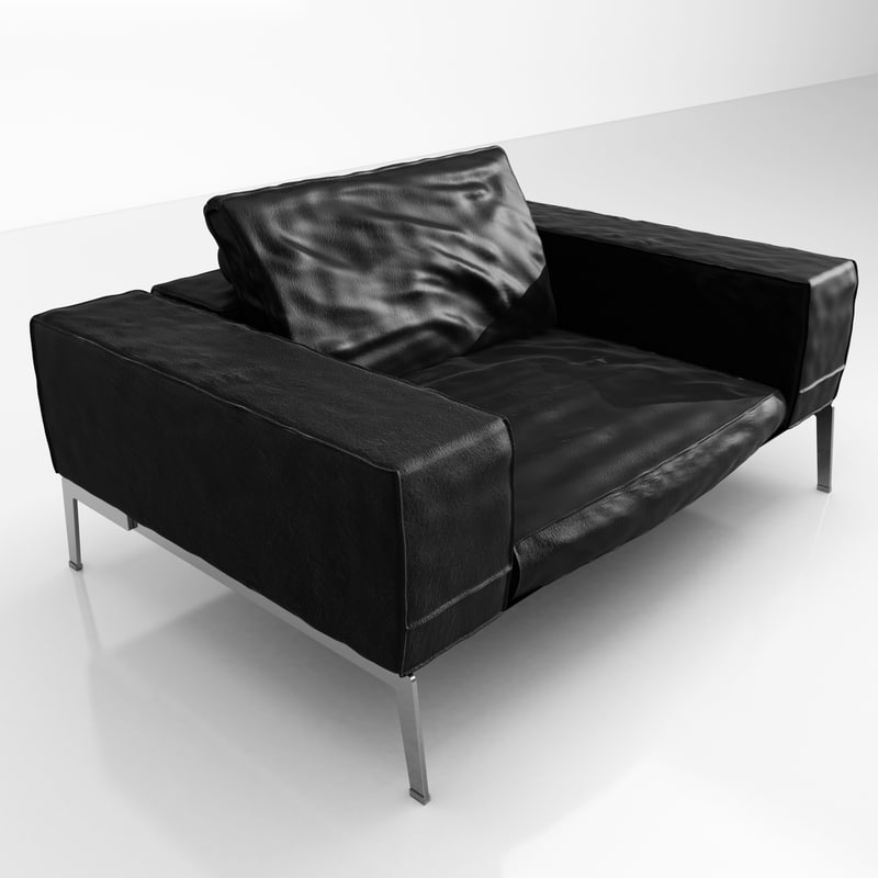3ds max flexform lifesteel 145 armchair