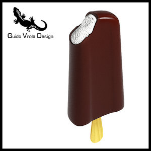 3d model of chocolate ice lolly