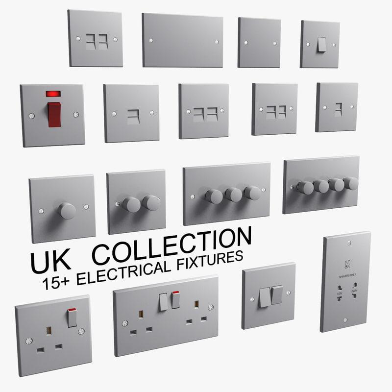 3d uk electrical fixtures classic