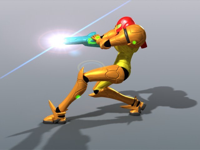 rigged video samus aran 3d model