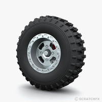 quad bike wheel 3d max