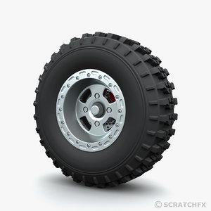 quad bike wheel 3d max
