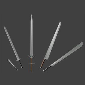 3d dagger sword