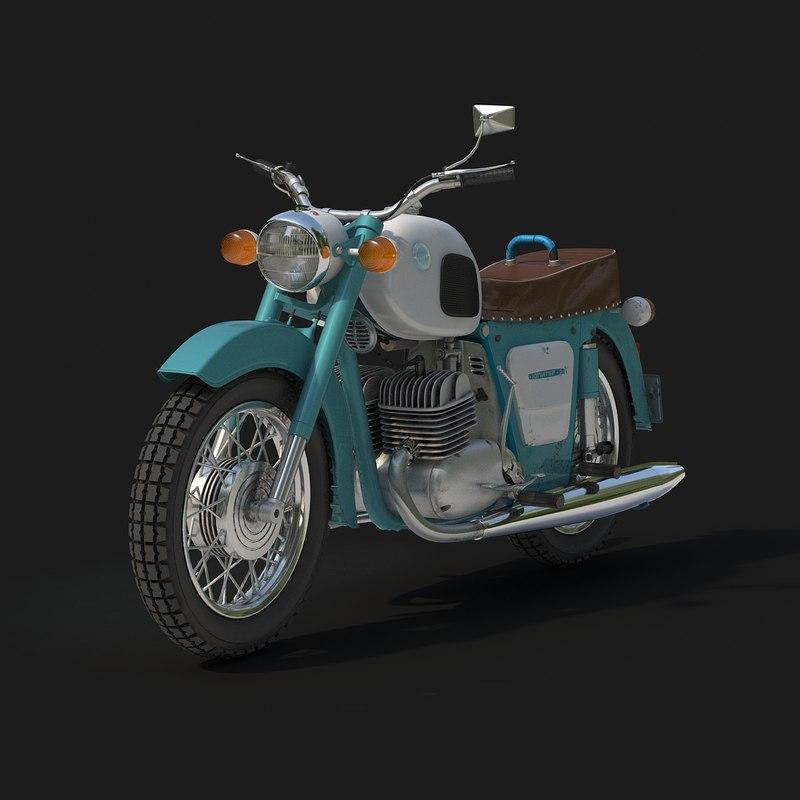 moto izh 3 motorcycle 3d max