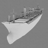 3d model new flame cargo ship