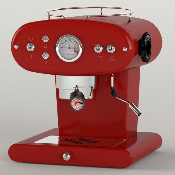 coffee machine francisfrancis 3d obj