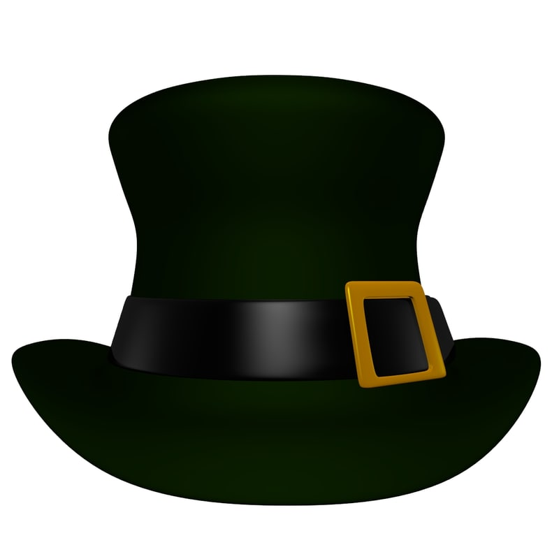 st patricks day hat 3d model