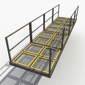 3d model industrial bridge