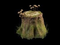 3ds max stump mushroom