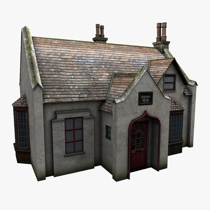 old cottage obj