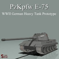 lwo wwii german e-75 heavy tank