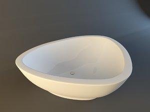 3d model of axor massaud bath