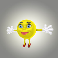 3d cartoon smile model