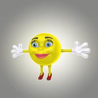 cartoon smile 3d max