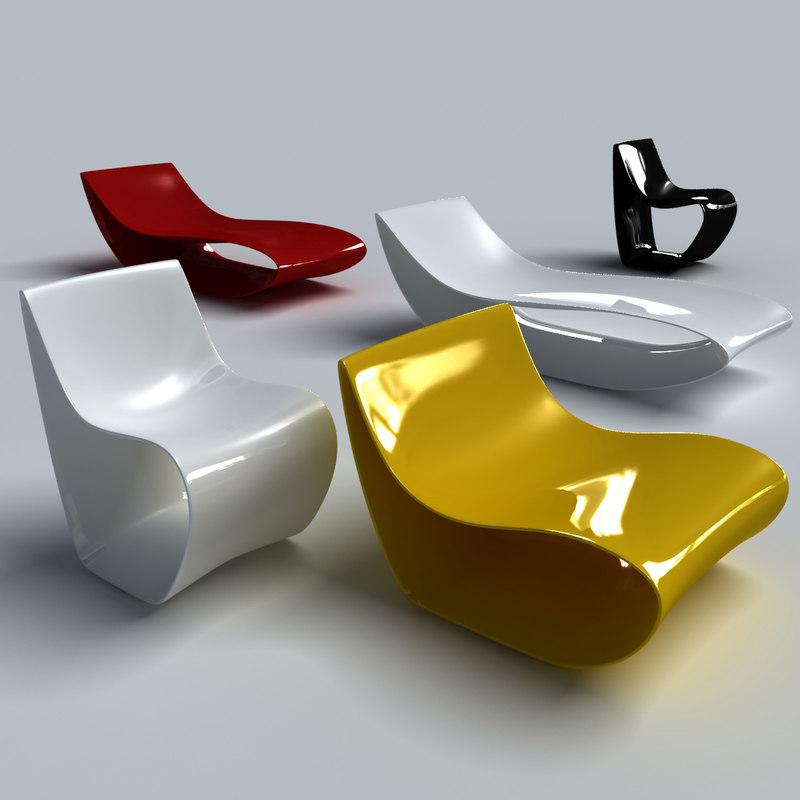 3d mdf chair armchair model