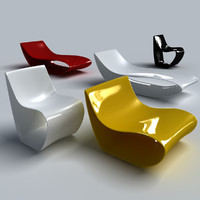 3d mdf chair armchair model