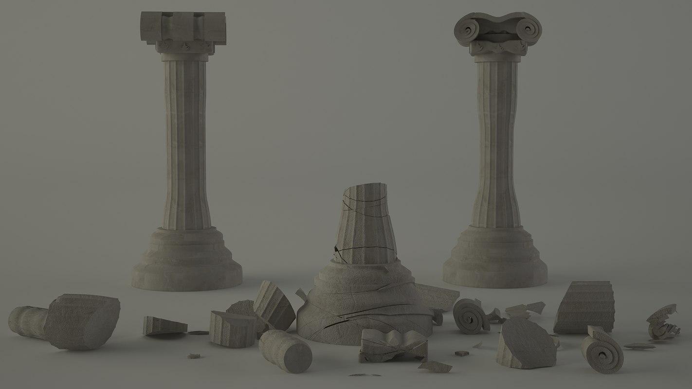 3d classical roman column