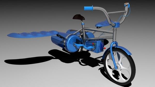 3d flying bmx bike model
