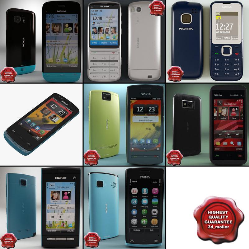 3d model nokia phones v4