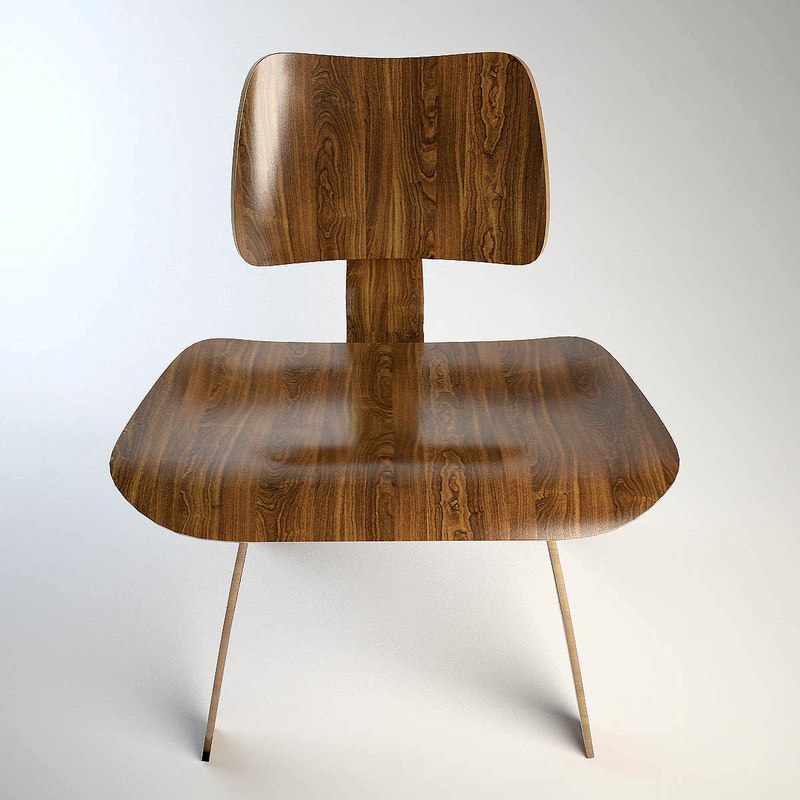 free eames dining chair 3d model