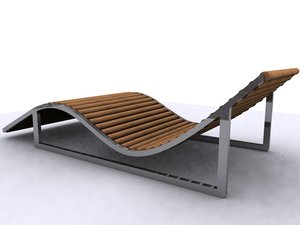 3ds max lounger bed sunbed sun