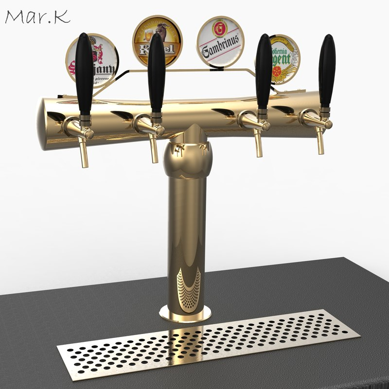 3d model beer tower