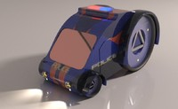 3d max police car futuristic