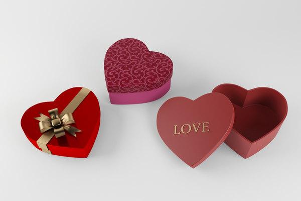 3d valentines gift model