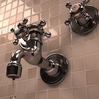 wall mount faucet 3d max