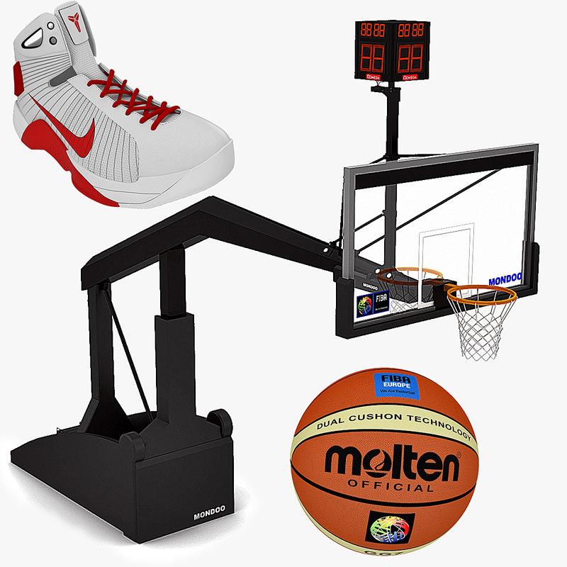 basketball equipment basket ball 3d model