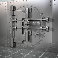realistic bank vault 3d 3ds