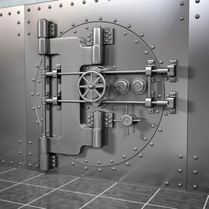 realistic bank vault 3d 3ds