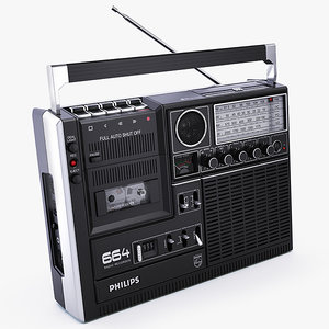 philips 664 cassette player 3d x