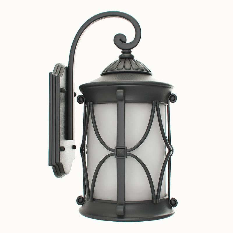 lantern outdoor 3d max