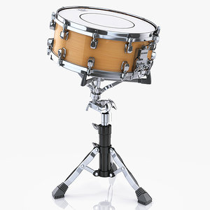 snare drum yamaha 3d model