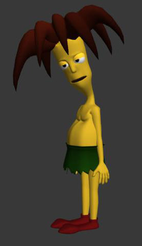3d model of sideshow bob simpsons